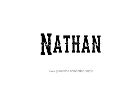 nathan tattoo designs nathan prophet name designs page 4 of 5 tattoos