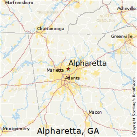 map of alpharetta best places to live in alpharetta