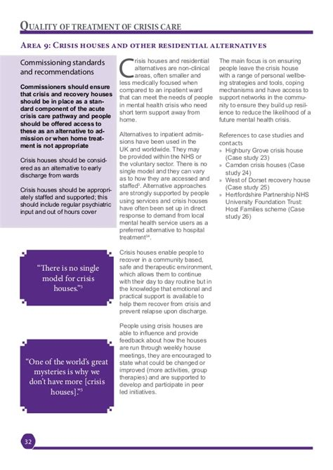 section 32 mental health london mental health crisis commissioning guide