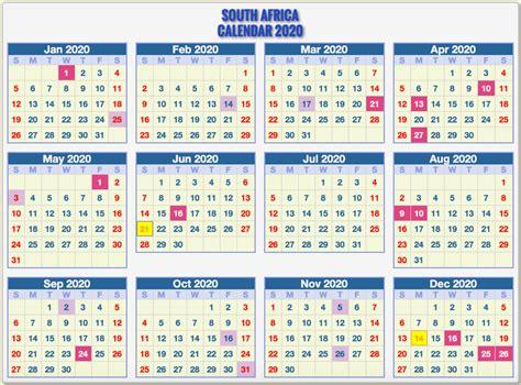 printable south african calendar template