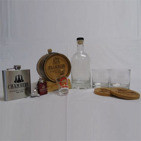 barware gifts engraved oak barrel barware gift set