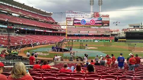 great american ballpark section 135 cincinnati reds seating chart with seat numbers