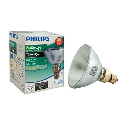 Outdoor Spot Light Bulbs Philips 90 Watt Equivalent Halogen Par38 Indoor Outdoor Spotlight Bulb 419382 The Home Depot
