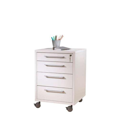 cassettiere ufficio cassettiera da ufficio con ruote e 4 cassetti tvilum