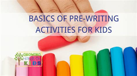 Basics Of Pre Writing Activities And Skills For Kids