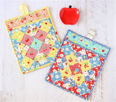 Free Quilted Potholder Pattern by Pot Holder Pattern Allfreesewing