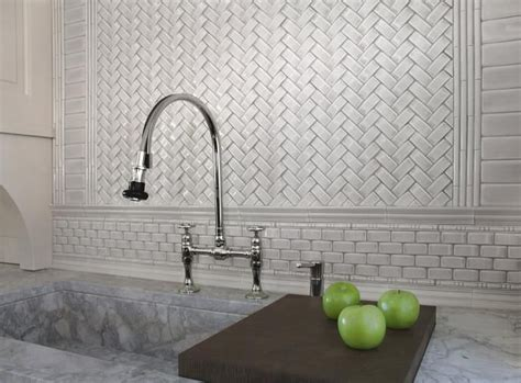 decorative ceramic wall tile backsplash with brick styled cabinet for superb outdoor kitchen 62 best images about herringbone tile on pinterest