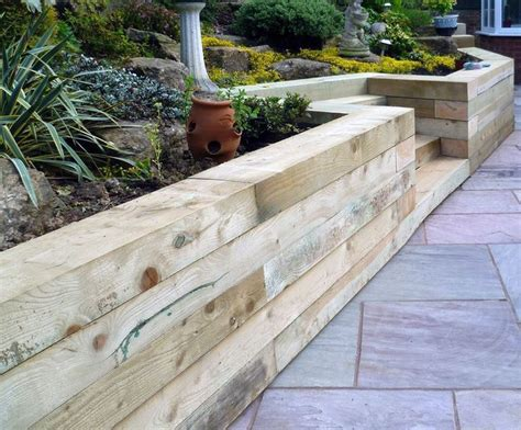 Garden Sleeper Wall by 25 Best Ideas About Oak Sleepers On Sleeper