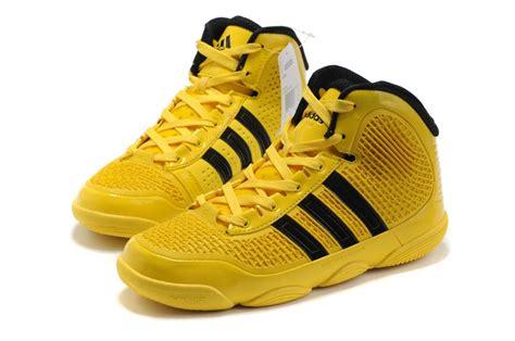 adidas black and yellow basketball shoes adidas adipure basketball shoes yellow black shoes 21037