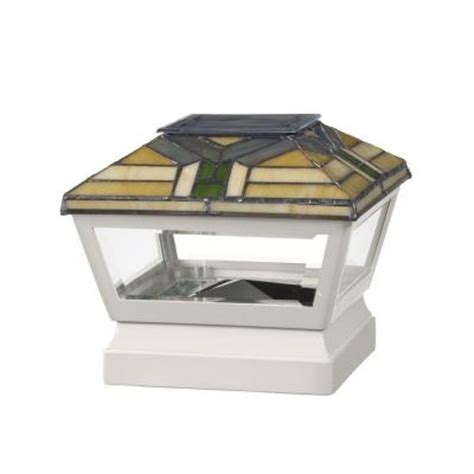 veranda 5 in x 5 in vinyl solar light forest top pyramid
