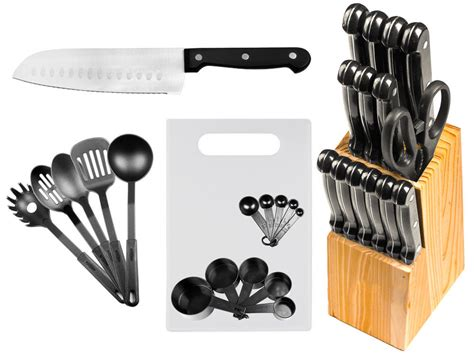 29 Pc Stainless Steel Kitchen Knives or Knife Set w/ Block