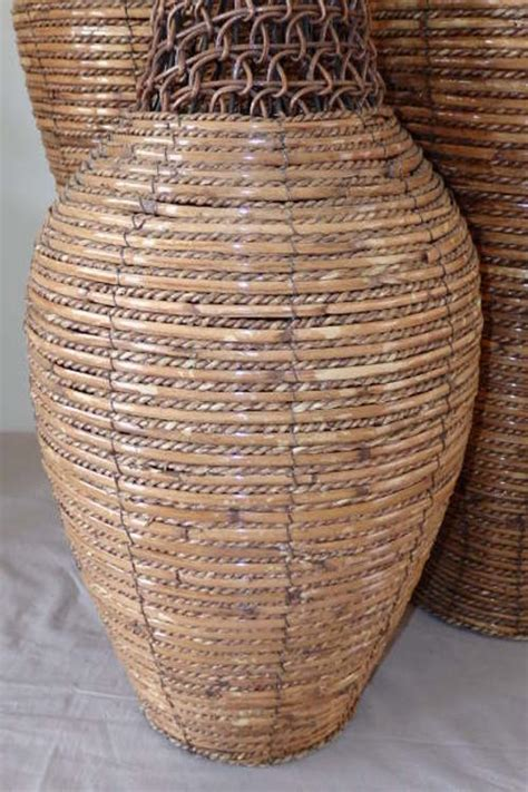 Large Wicker Vases by Baskets Boxes 3x Spectacular Large Wicker Urn Shaped