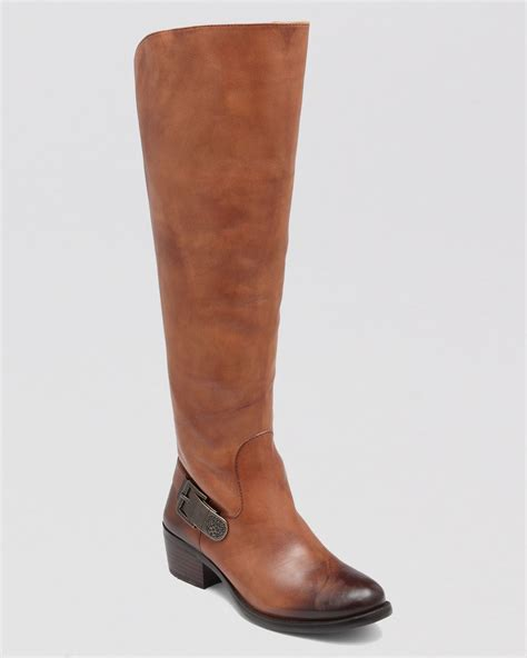 vince camuto bedina wide calf boots in brown