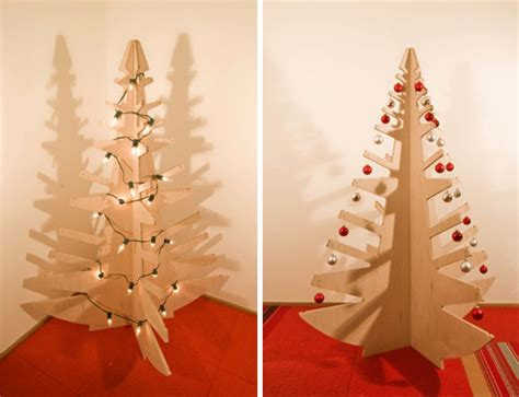 modern plywood christmas tree digsdigs