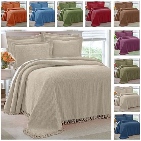 coverlets full size 100 cotton chenille bedspread select color and size twin