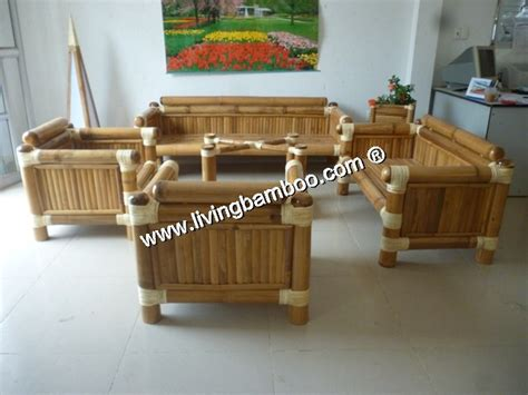 Bamboo Living Room Set Optional Title Display
