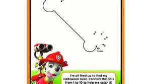 Paw Patrol Paw Patrol Connect Dots Colouring Pages Preschoolers Nick Jr Uk