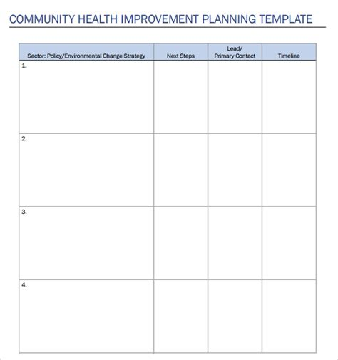 10 Health Plan Templates Sle Templates Community Template