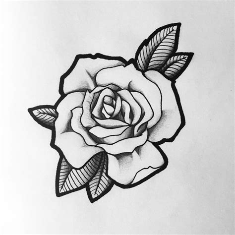 how to draw a traditional rose tattoo best 25 stencil ideas on