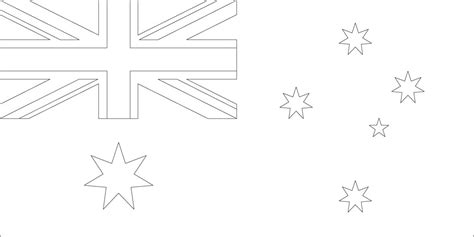 australian flag template to colour world flags coloring pages
