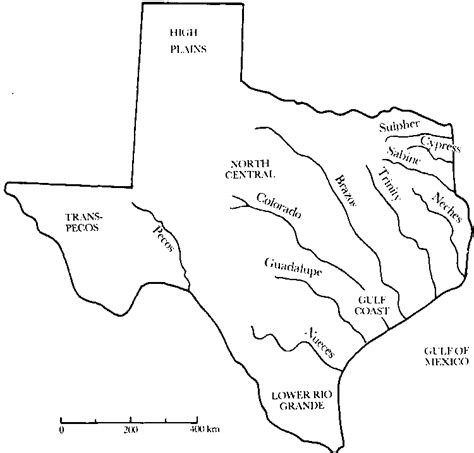 texas rivers and lakes map ch06