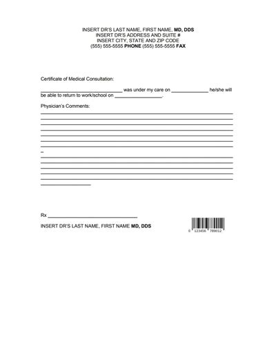 Doctors Note For Work Template Download Create Fill And Print Wondershare Pdfelement Doctors Note For Work Template