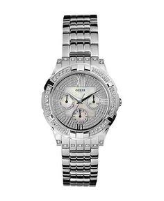 guess s automatic accented stainless