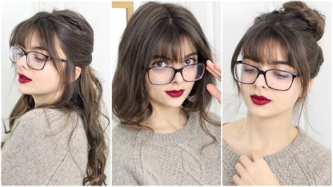 Medium Hairstyles With Bangs And Glasses by Hairstyles For With Bangs Glasses Loepsie