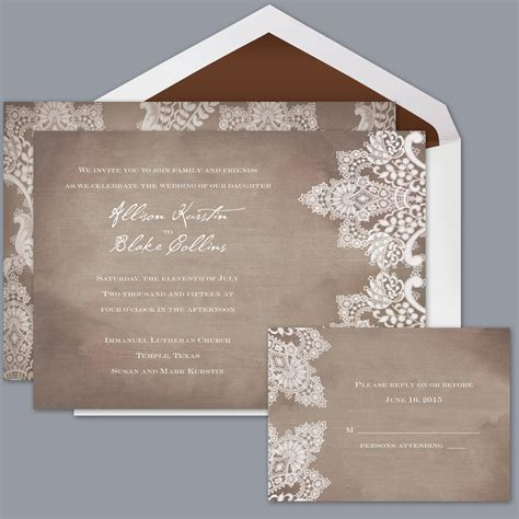 david s bridal wedding invitations in boho chic rustic brown announcement cards invitations by