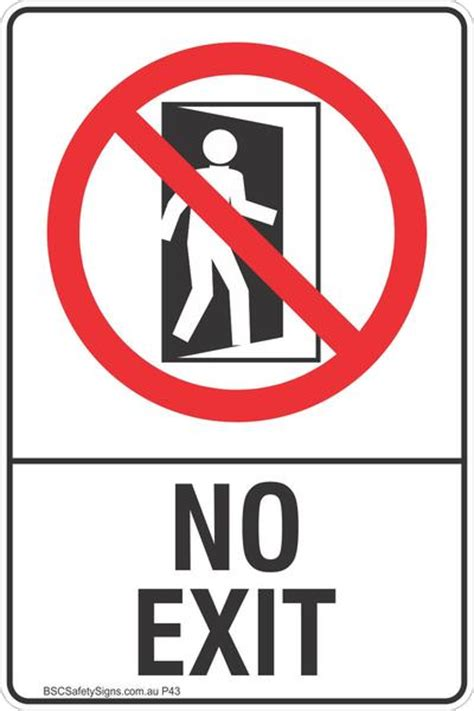 Sticker Safety Sign Traffic Sign No no exit safety sign prohibited stickers restricted area labels bsc safety signs australia