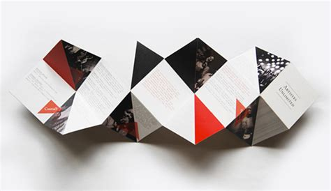How To Fold Paper Into Brochure - creative brochure design geometric shapes and more entheos