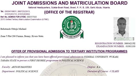 Check Acceptance Letter At Tut how to check and print jamb utme and direct entry 2013 14