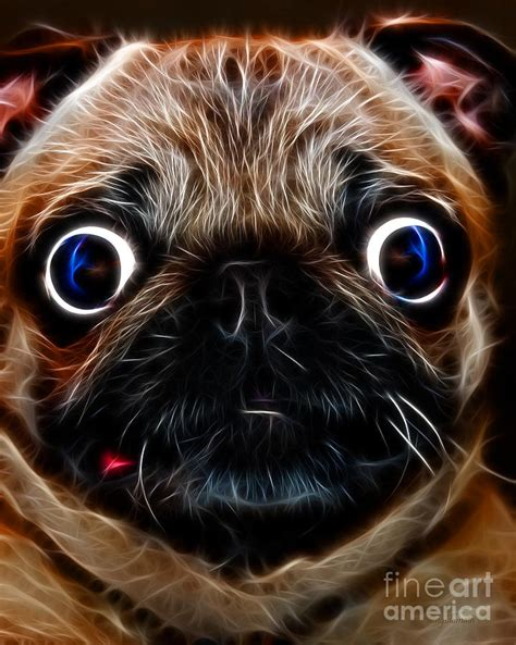 pug photography pug electric photograph by wingsdomain and photography
