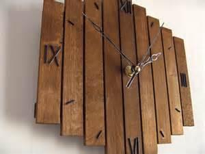 Handmade Woodwork - wooden wall clock decor hanging wall clock clock