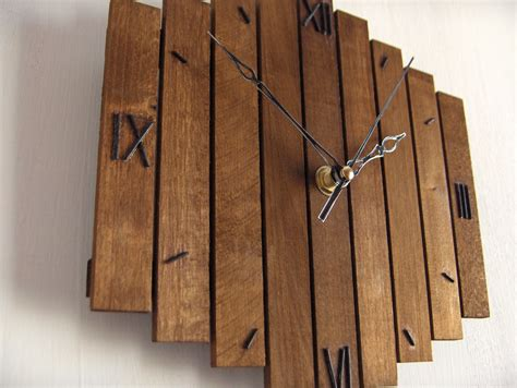 Handmade Wood - wooden wall clock decor hanging wall clock clock
