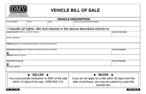 Vehicle Bill Of Sale Template Free Printable Documents Docs Bill Of Sale Template