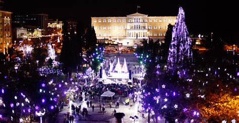 athens christmas lights switch on postponed until