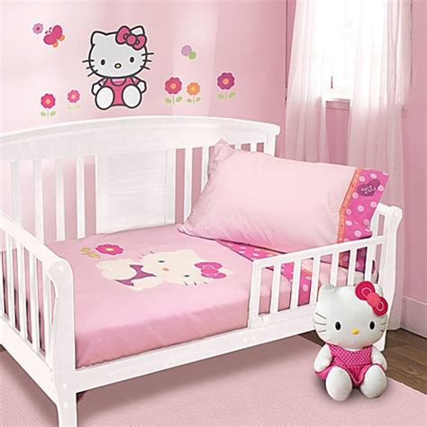 Buy Lambs Ivy 174 Hello Kitty Garden 4 Piece Toddler Set Lambs And Hello Crib Bedding
