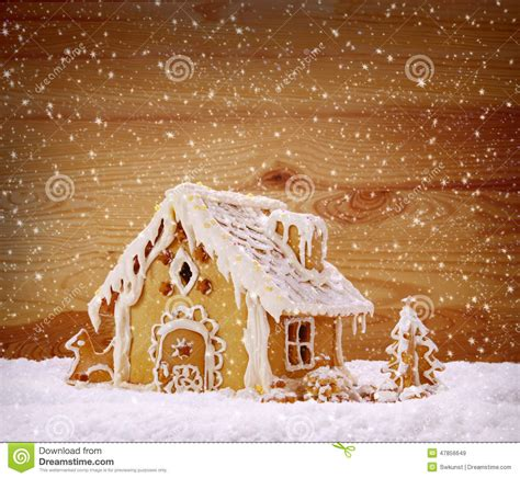winter holiday gingerbread house stock photo image