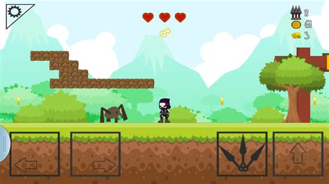 tutorial android games 2d amazon com ninja side 2d platform game appstore for