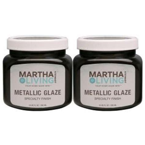 home depot paint glaze martha stewart living 10 oz black coffee metallic glaze