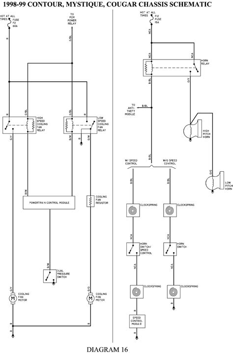 contour diagram 98 ford contour wiring diagram fixya 98 ford contour