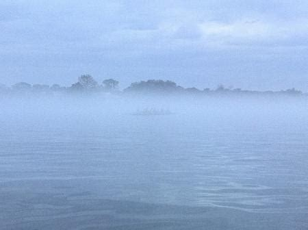 boat crash edgewater florida evening fog row2k rowing photo of the day