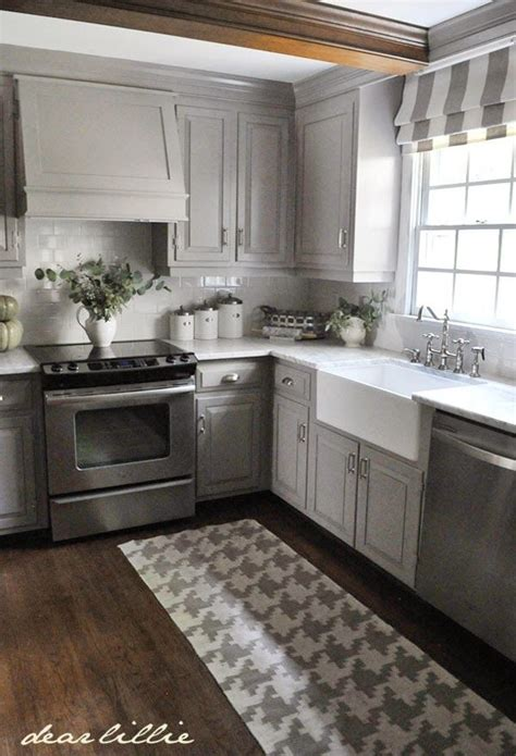 ideas  gray kitchen cabinets  pinterest