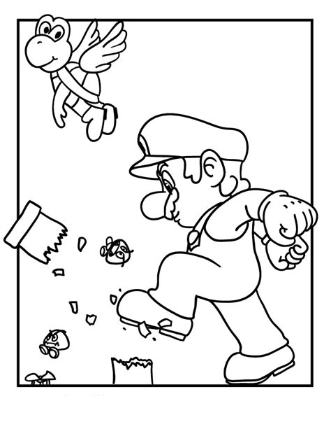 Mario 9 Coloring Pages by Mario Coloring Pages Free Printable Coloring Pages