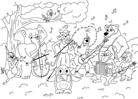 coloring pages instruments of the orchestra friends orchestra coloring game printable book for 513493