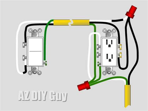 how to wire a split switched outlet by az diy s