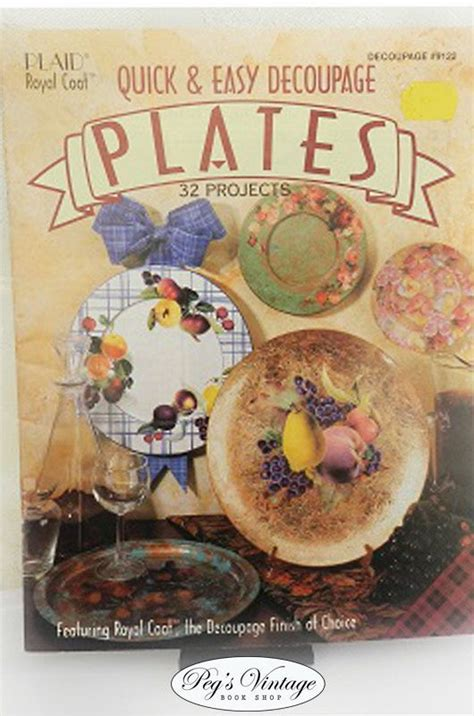 Easy Decoupage - plaid easy decoupage plates project idea booklet