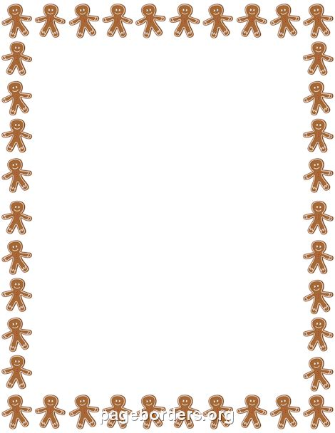 free printable gingerbread man border gingerbread man border clip art page border and vector
