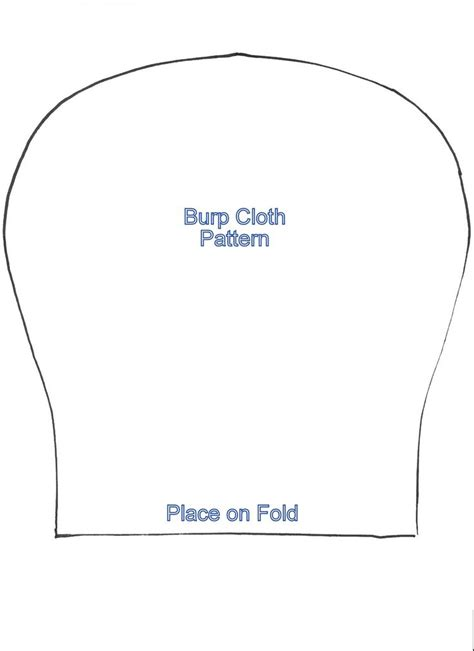 cloth template burp rag pattern free pieces of flannel fabric cut out